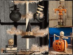 Bethany Lowe Halloween: ornaments and table top figures all with folk art or vintage style Shelley B Home and Holiday