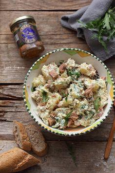 Salata de cartofi cu ton si rucola Quick Meals, Pasta Salad, Ethnic Recipes, Food, Salads, Fast Meals, Crab Pasta Salad, Fast Foods, Essen