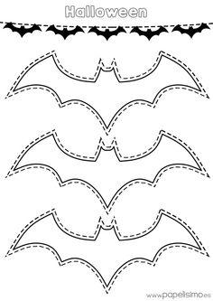 Siluetas de murciélagos para colorear y recortar                                                                                                                                                                                 Más
