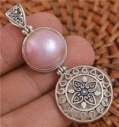 Bali Design  Pink Mabe Pearl 925 Sterling Silver by Gingsir