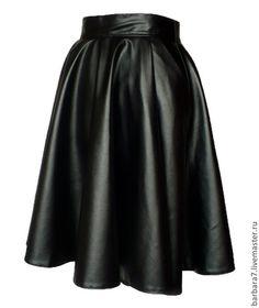 Кожаная юбка Fade to Black/Юбки ручной работы от BarBara