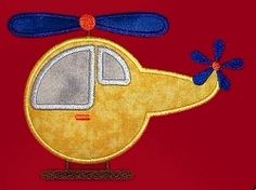 Helicopter Appilque - 2 Sizes! | Airplanes | Machine Embroidery Designs | SWAKembroidery.com Lynnie Pinnie