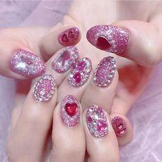 Cute Acrylic Nails, 3d Nails, Cute Nails, Pretty Nails, 3d Nail Art, Bling Nails, Glitter Nails, Nail Art Designs, Acrylic Nail Designs