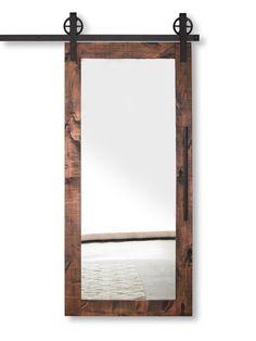Portello di granaio con mirroring moderno