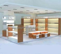 Custom design acrylic makeup counter display small display shop shelf display cosmetic DMD-100