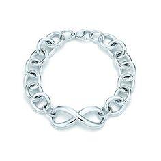Tiffany Infinity bracelet in sterling silver, medium.