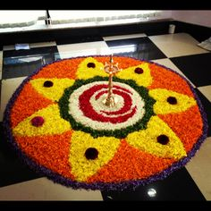 Pookalam , Onam celebrations :)