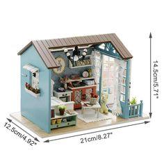 Wooden Dollhouse Kits, Dollhouse Toys, Dollhouse Furniture, Miniature Dollhouse, Dollhouse Ideas, Wooden Gifts, Wooden Diy, Diy Cabin, Mini Doll House