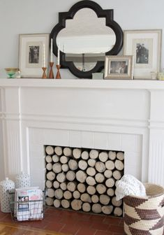 DIY Home Improvement Projects On A Budget - Faux Log Stack For The Fireplace - Cool Home Improvement Hacks, Easy and Cheap Do It Yourself Tutorials for Updating and Renovating Your House - Home Decor Tips and Tricks, Remodeling and Decorating Hacks - DIY Projects and Crafts by DIY JOY http://diyjoy.com/diy-home-improvement-ideas-budget