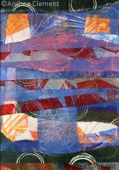 #paintseptember Day11: monoprint and collage - acrylic