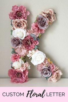 """How pretty is this Floral Letter ''K'' 