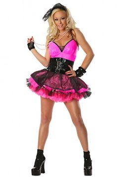 Totally Adult Womens Costume - Party like a material girl in this bubble gum pink and oh so fancy Totally adult womens costume - it even includes a matching ...  sc 1 st  Pinterest & 80u0027s fashion | 80u2032s Rocks! | Warm Photos | 80s Outfits | Pinterest ...