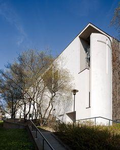 The Kauniainen church in greater Helsinki area, Finland designed by Gullichsen Kairamo Vormala architects.