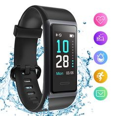 HolyHigh 153 Smart Fitness Band, Fitness Tracker Watch with Heart Rate Sleep Monitor Waterproof Fitness Band with Call Whatsapp Alert Stop Watch Pedometer for Men Women Boys Girls Best Fitness Band, Smart Fitness Tracker, Fitness Watch, Burn Calories, Calories Burned, Heart Rhythms, Health Activities, Sleep Quality, Wearable Device