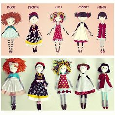 Dolls by Anacardia + Cecília Murgel drawings