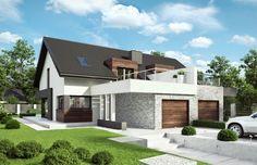 Homekoncept 47B 117.33 m2   Projekt domu bliźniaczego   projekty domów   kreoDOM.pl Design Case, Home Fashion, Exterior Design, House Plans, House Design, Mansions, House Styles, Home Decor, Bbc
