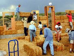 Loads of information about building a straw bale house. At roughly 15 dollars a square foot AND possessing super energy efficiency, these are SUPER HOUSES!    Now... to find a LOT of dry bales.