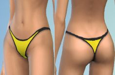 Mod The Sims - Thong Underwear