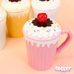Cherry Cupcake Ceramic Mug - Cups & Mugs - Home & Deco - Other Products | Blippo.com - Japan & Kawaii Shop