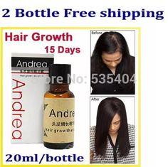 2x Andrea Hair Growth Essence Hair Loss Treatment ginger genseng get dense hair
