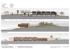 Garangula Gallery by Fender Katsalidis Mirams Architects - sections