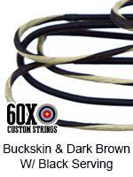 buckskin and dark brown with black serving custom bow string