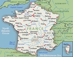 A Nice Map That Shows The Mountainous Areas Of France Strasbourg - Strasbourg france map