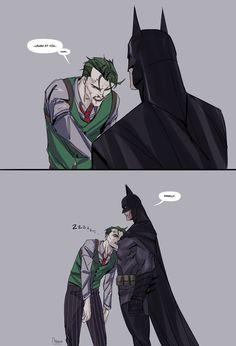 Joker Dc Comics, Anime Comics, Funny Comics, Bat Joker, Joker Art, Lego Batman Movie, Batman And Superman, Jocker Batman, Good Omens Book