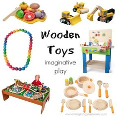 wooden toys that make a great gift and promote imaginative play