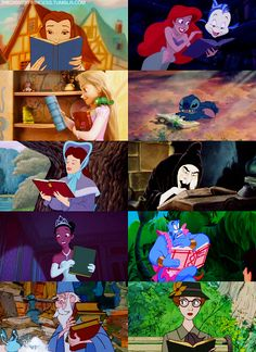 even disney characters are reading