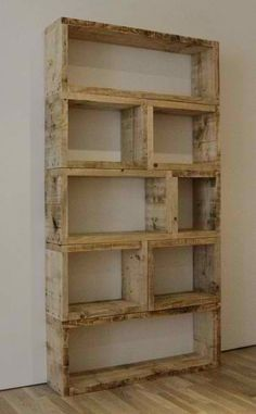 Pallets meet bookcase.