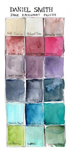 Jane Davenort Daniel Smith 15ml Watercolours