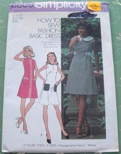 1970's UNCUT Vintage Simplicity Sewing Pattern by ingrandmasattic, $3.95