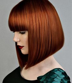 Medium Red Hairstyles by Ashley Gamble