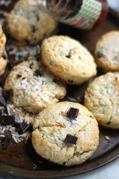 Chocolate Chunk Toasted Coconut Scones