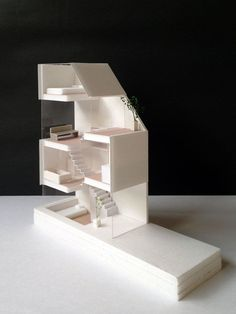 An architectural model is a type of scale model – a physical representation of a structure – built to study aspects of an architectural design or to communicate design ideas. Concept Models Architecture, Architecture Panel, Architecture Portfolio, Interior Architecture, Interior Design, Drawing Architecture, Architecture Diagrams, Tyni House, Arch Model