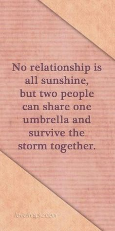 It's all about sharing the umbrella....