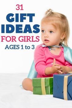 31 gift ideas for toddler girls! Wondering what to buy a toddler girl for her birthday or Christmas? These fun toddler gifts for girls ages one to three are exactly what you need. Everything from non-toy gift ideas to the best toys, games, and gifts for the toddler girl who has everything! Buy a gift your toddler girl will love! #toddlergirlgifts #giftguide #toddlergirls #twoyearold #threeyearold #oneyearold #toddlergiftideas Best Toddler Gifts, Best Toddler Toys, Toddler Girl Gifts, Toddler Girls, Girl Toys, Toys For Girls, Unique Gifts For Girls, Parenting Toddlers, Fun Activities For Kids