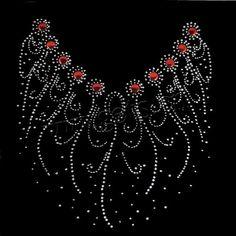 Rhinestone flower patterns | Rhinestone Hot Fix Motif, AA grades, flower pattern, nice design, 22 ...