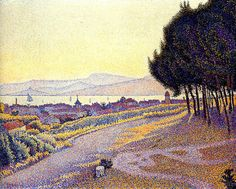 The Town at Sunset (Saint-Tropez), 1892. Paul Signac
