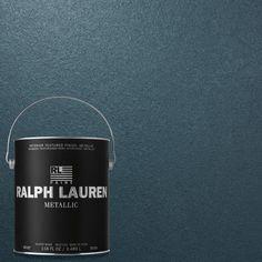 Ralph lauren 1 gal blue zircon silver metallic specialty - Metallic blue interior wall paint ...