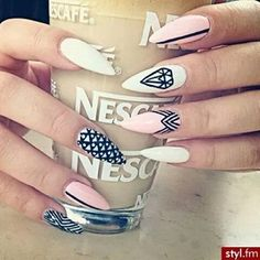 ♡ #stilleto#nails#tribal