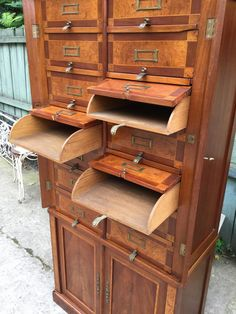Unique Furniture, Industrial Furniture, Vintage Furniture, Home Furniture, Furniture Design, Craft Cabinet, Target Home Decor, Antique Cabinets, Storage Cabinets