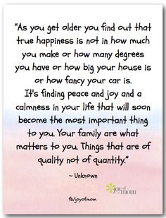 As you get older you find out that true happiness is not in how much you make. Bible Verses Quotes, Words Quotes, Sayings, Great Quotes, Quotes To Live By, Inspirational Quotes, Awesome Quotes, All Family, Extended Family
