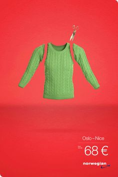 From Cold To Hot. Norwegian Airlines Ads by Kitchen Leo Burnett