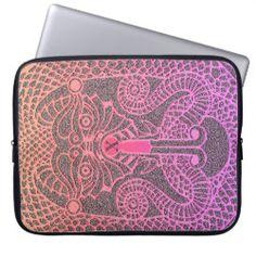 Custom abstract Dragon Laptop Case unicorn/black Pink Dragon, Black Dragon, Neoprene Laptop Sleeve, Custom Laptop, Celtic Designs, Day Up, Laptop Case, Pink Yellow, Custom Clothes