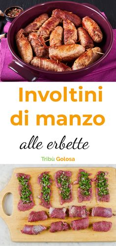 #tribugolosa #gourmettribe #golosiditalia #cucina #cucinaitaliana #cucinare #instafood #instagood #food #foodstyling #yummy #foodlover #ricette #recipe #homemade #delicious #rolls #invotlini #carne #manzo #beef Italy Food, Saveur, I Love Food, Sausage, Low Carb, Recipes, Cellulite, Ivy, Carmelized Onions