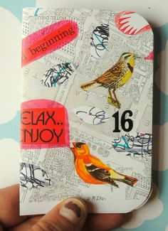 collage :: rounded corners :: put a bird on it
