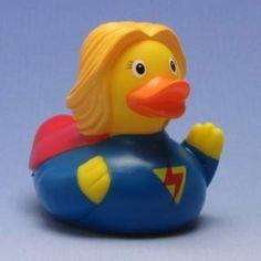 Badeente Superwoman
