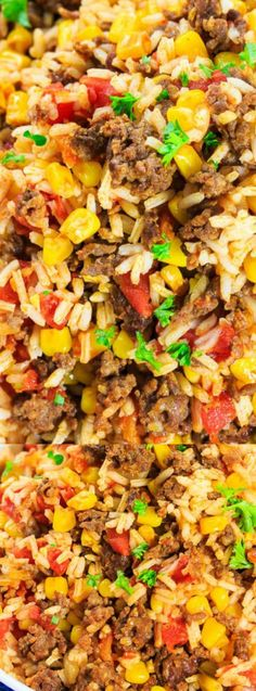 This Mexican Chorizo Rice from Spicy Southern Kitchen is a fully flavored and spicy rice dish. It's loaded with fresh crumbled chorizo sausage, crunchy corn, and tomatoes!